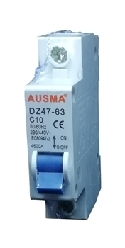 Picture of Aus 1p 10A dinrail circuit breaker/1*240