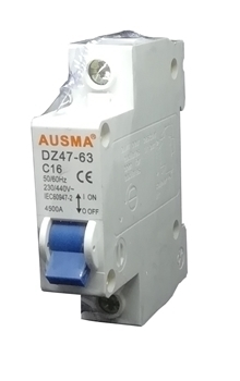 Picture of Aus 1p 16A dinrail circuit breaker/1*240