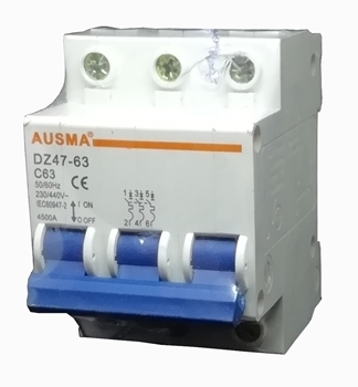 Picture of Aus 3p 63A dinrail circuit breaker/1*80