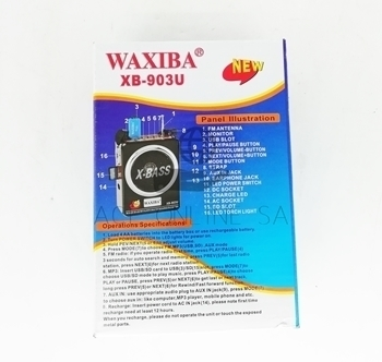 Picture of XB-903U WAXIBA RADIO/1*40