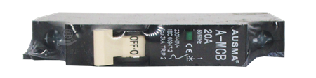 Picture of AUS 1P 20A minirail circuit breaker/1*240