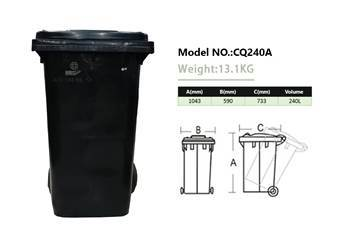 Picture of Wheelie Bin black 240L/1*1