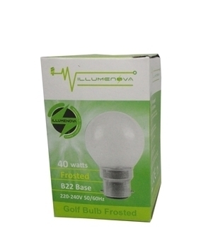 Picture of G45 40W B22 Golf bulb/1*100