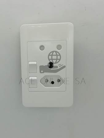Picture of AUS D02-2 double wall switched socket/1*96