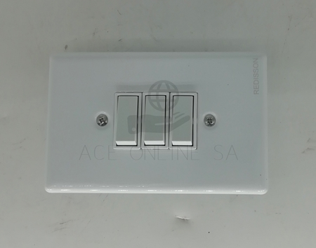 Picture of RED A-M03(S) 3 lever wall switch stee/1*96