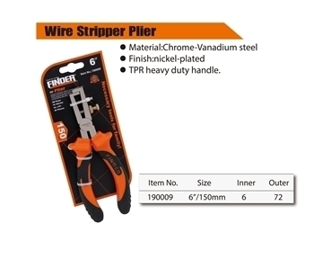 Picture of 190009 Finder Wire stripper plier(150mm/6'')/1*72