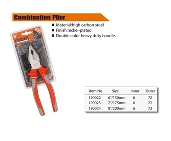"""Picture of 190022 Finder combination plier 150mm/6""""/1*72"""
