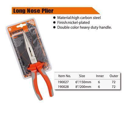 "Picture of 190028 long nose plier(200mm/8"")/1*72"