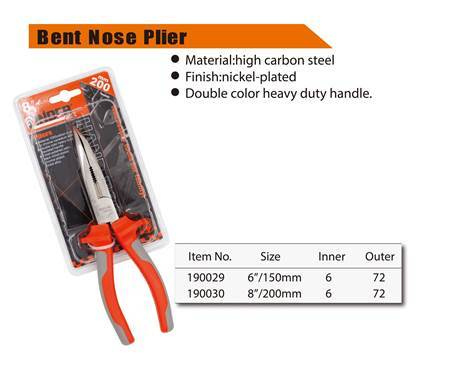 "Picture of 190030 Finder bent nose plier(200mm/8"")/1*72"