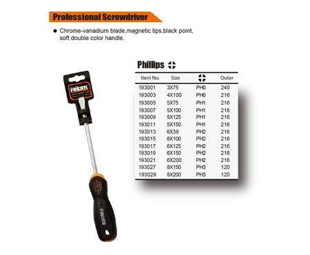 Picture of 193007 cr-v professional screwdriver(5*100+)1*216