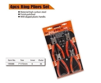 "Picture of 190088 Finder 4pcs ring plier set(7"")/1*36"