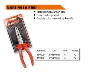 """Picture of 190029 bent nose plier(150mm/6"""")/1*72"""