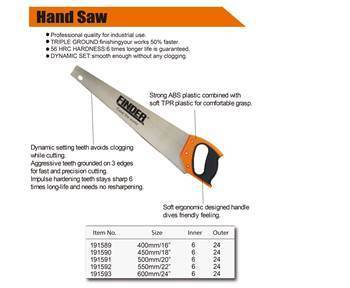 "Picture of 191590 hang saw(450mm/18"")/1*24"