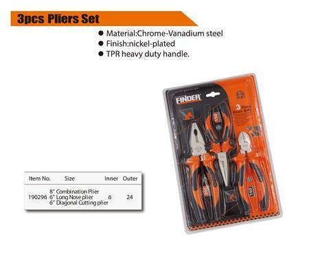 Picture of 190296 3pcs plier set(8'combination)/1*24