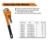 "Picture of 190218 Finder Heavy duty pipe wrench(10"")/1*48"