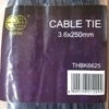 Picture of THBK6625 cable tie 3.6*250mm/1*80