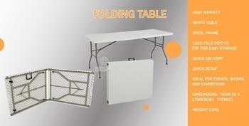 Picture of BAK02130 PVC FOLDING TABLE BOSS 183CM/1*1