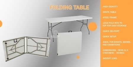 Picture of BAK02130 PVC FOLDING TABLE BOSS 183CM/1*1