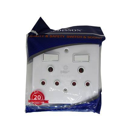 Picture of RED A-MD02(S) D/wall socket4*4 steel/1*48