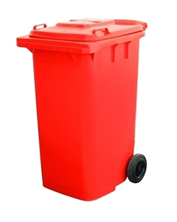 Picture of Wheelie Bin red 240L/1*1
