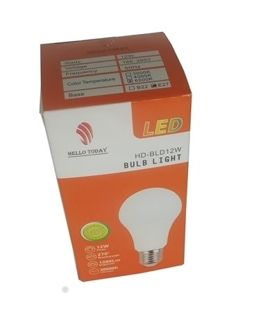 Picture of HD-BLD12W BULB LIGHT E27/1*100