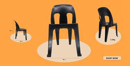 Picture of Black light duty chair/1*1