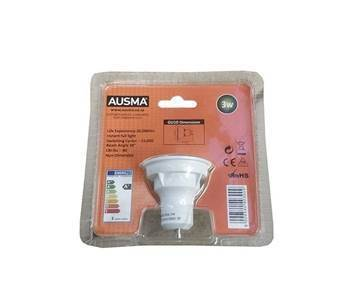 Picture of AUS LED GU10 3W Cool white 6000k/1*120