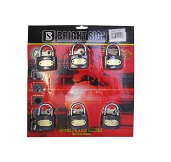 Picture of BS-0141 IRON LOCK50*6PCS/1*25