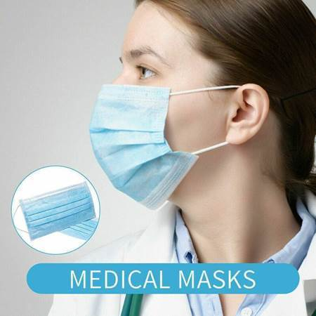 Picture of 50Pcs Disposable Medical  Mask 3-L/1*40(IN-STOCK)
