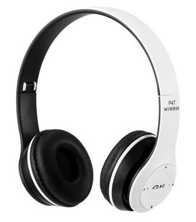 Picture of P47 Wireless Bluetooth Headphones White