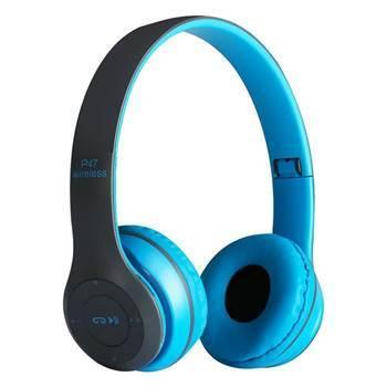 Imagem de P47 Wireless Bluetooth Headphones Blue