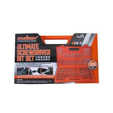 Picture of SDY-94272 208P Ultimate screwdriver bit set/1*6