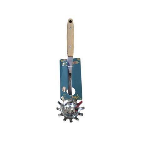 图片 BS-5366 Noodle spoon with wooden handle/1*240