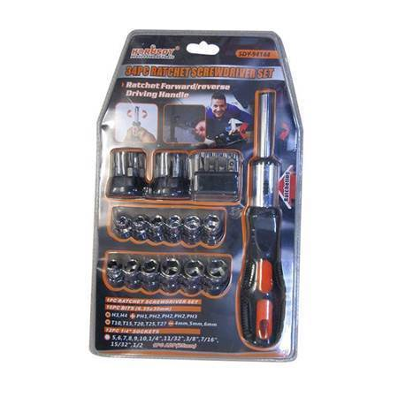 Picture of SDY-94144 34P Ratchet screwdriver set/1*36