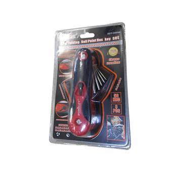 Picture of SDY-94094 8P Folding ball point hex key set/1*72
