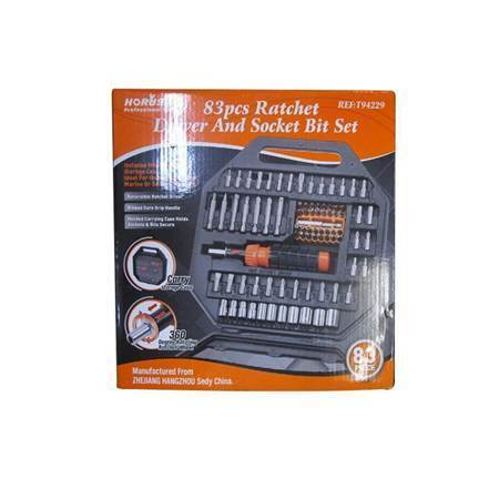 图片 SDY-94229 83P Ratchet driver&socket bit set/1*20
